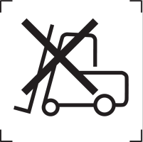 icone ne pas utiliser de chariot elevateur