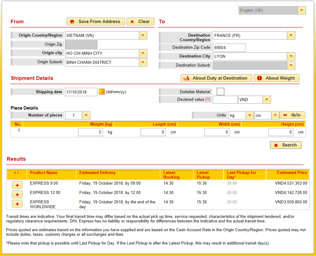 facture dhl france