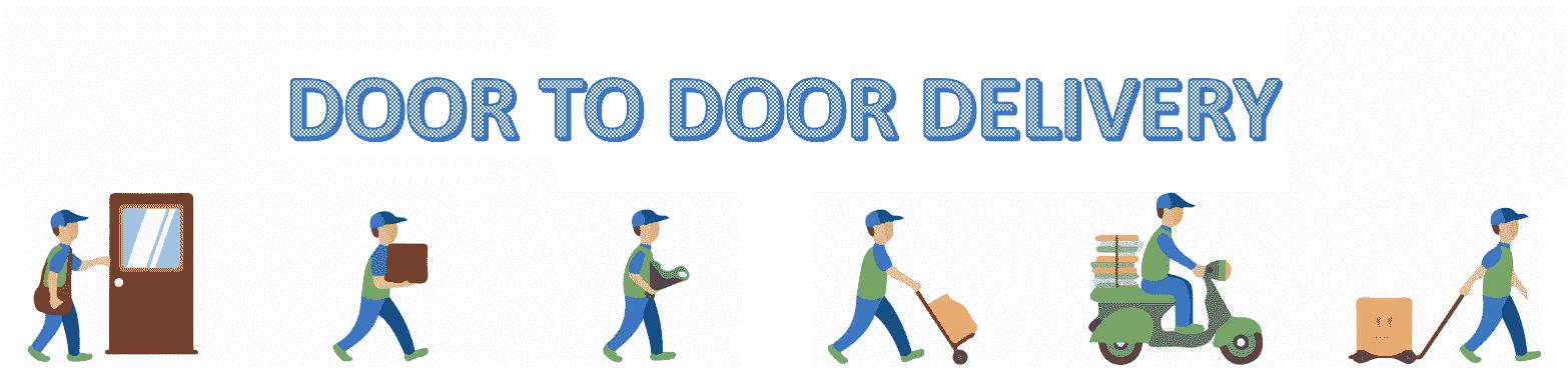 livraison porte à porte illustration