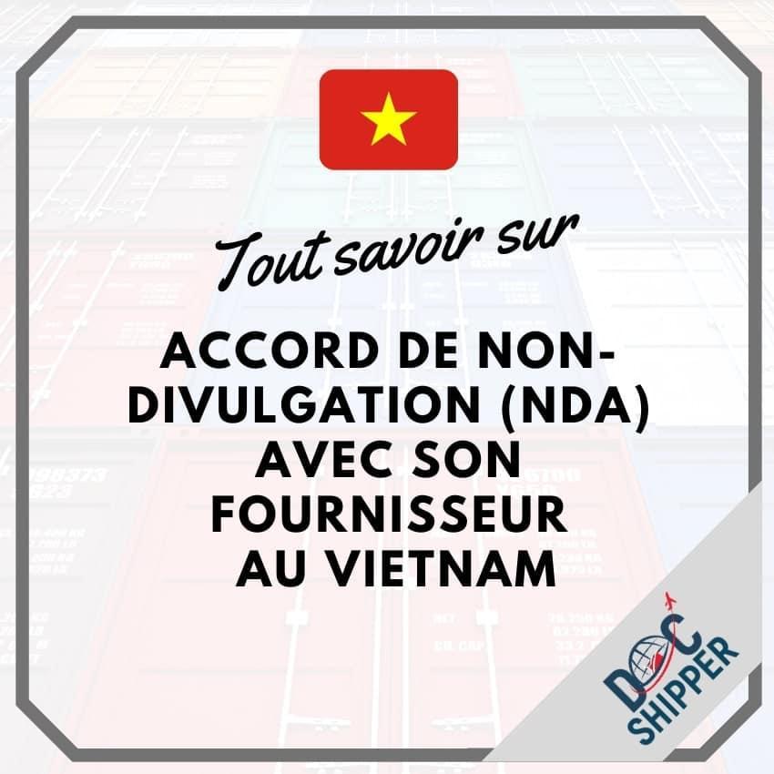 accord non divulgation (NDA) vietnam